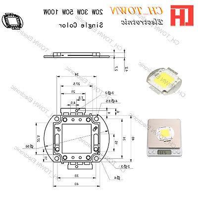 High Power 1W 5W 10W 50W 100W White SMD Beads