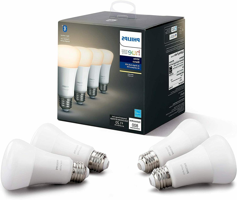 hue white 4 pack a19 led smart