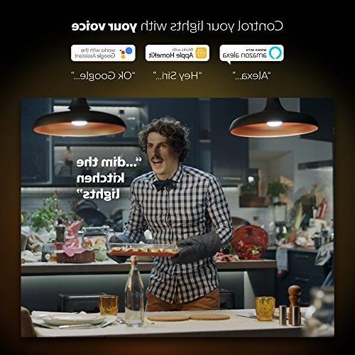 Philips Hue White Ambiance 2-Pack 60W Dimmable LED Smart Light Bulbs, Bulbs, Works with Alexa, Homekit, Google