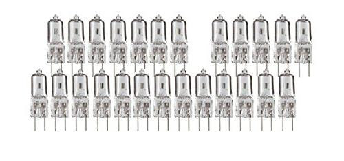 20-Watt 12V G4 Base Halogen Lamp 20W Bi-Pin Light Bulbs, of