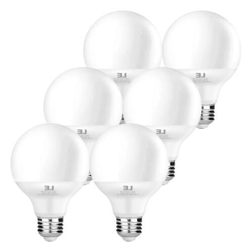 6 X G25 LED Bulbs, 5W , 2700K Warm White, E26 Base Globe, 45