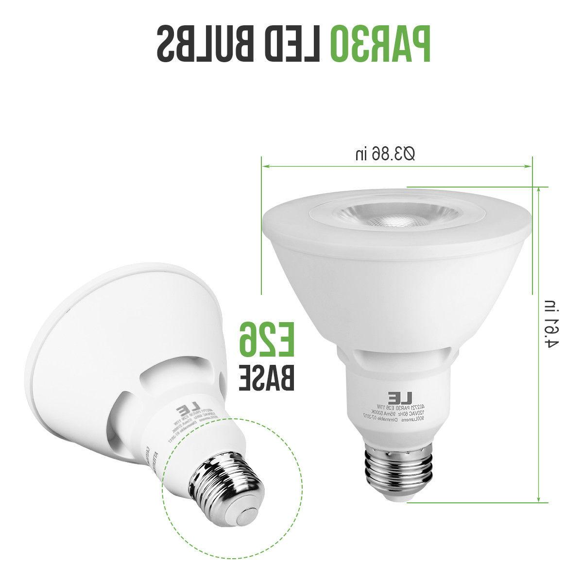 LE 8 Pack LED Dimmable Flood Light Neck 5000K Daylight