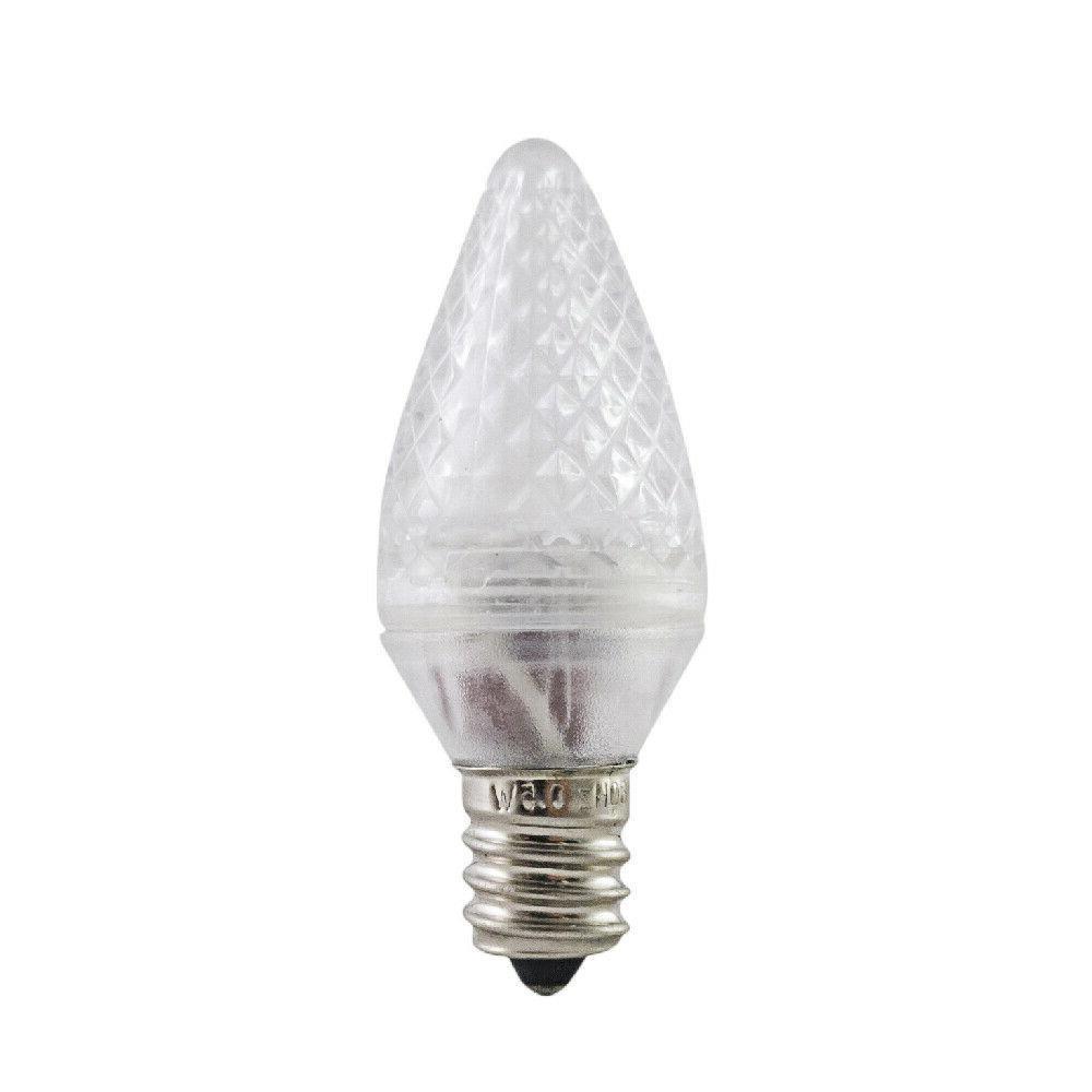 Christmas Light Bulbs, E12, .35W, 24lum, 25 Pack