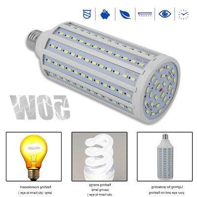 LED Corn Bulbs 50W 300W Euq. Light 6000K 5000LM E26 Base Lig