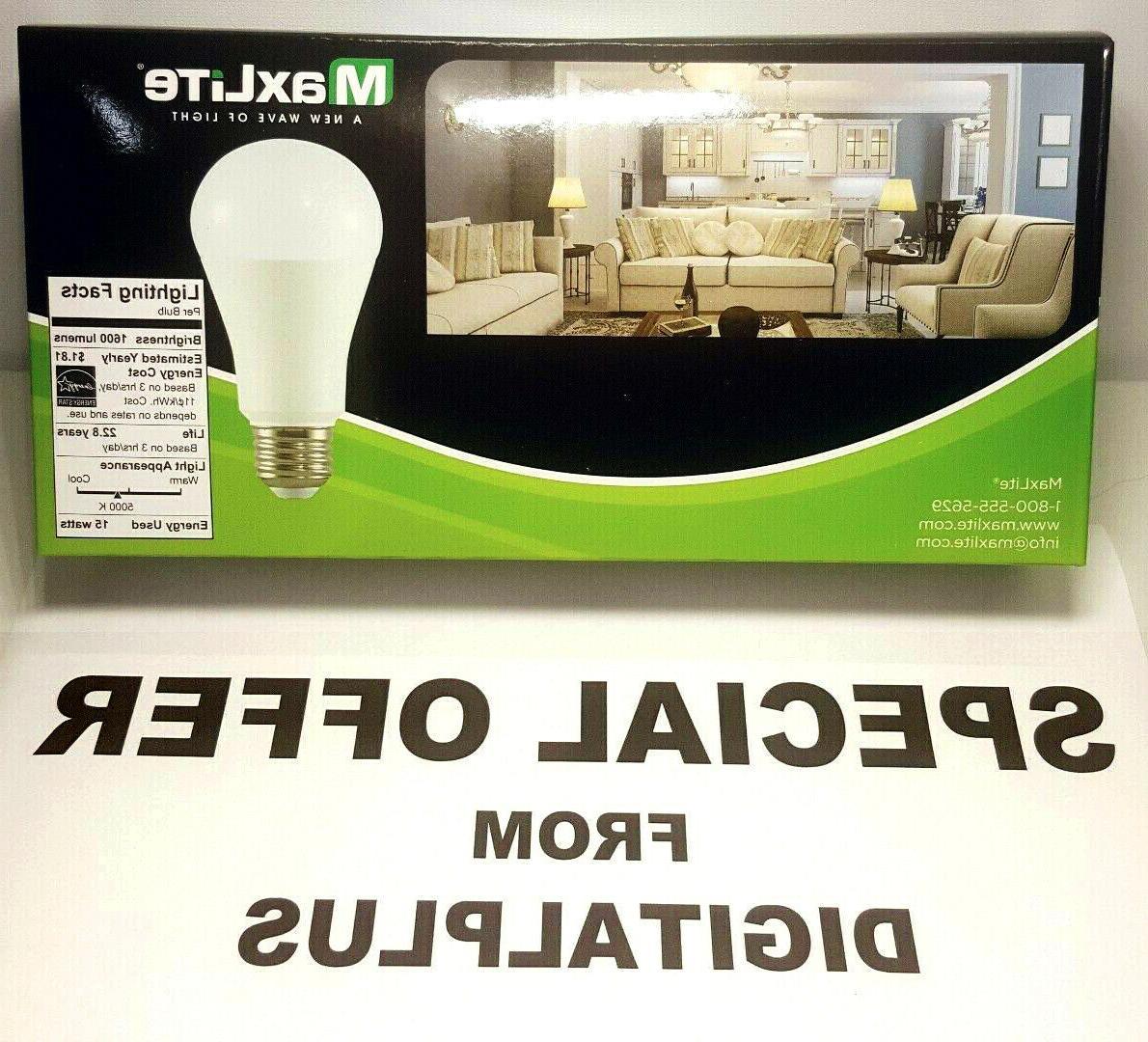 Maxlite LED Light Bulbs Daylight Dimmable 15Watt Watt Equivalent 5000k 5