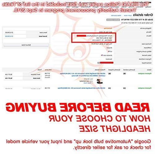 HIKARI of Adjustable Beam, 9600lm 6K White,2 Yr