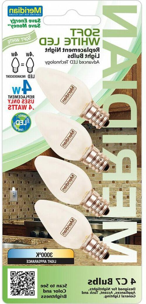 LED 4 Pack Watt C7 Soft Lights Appliances