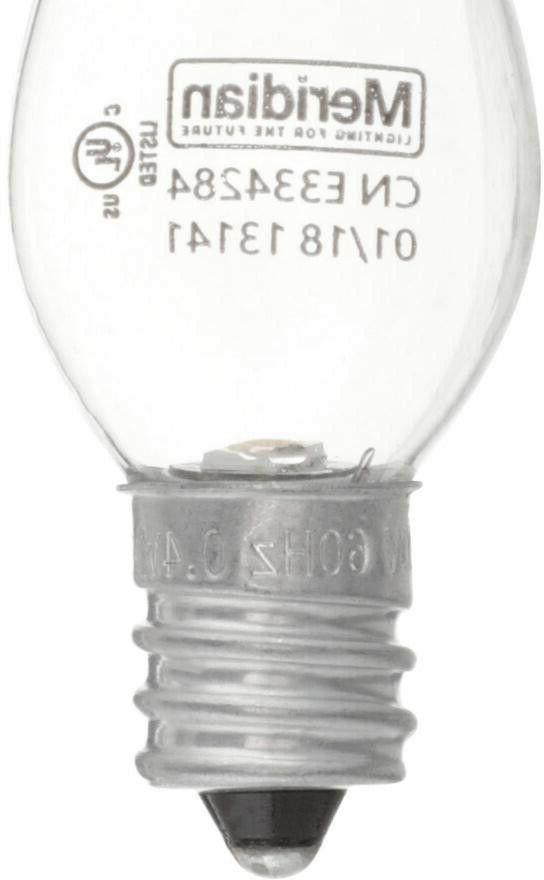 LED Light Bulbs Pack 4 Watt C7 Soft White Night Lights