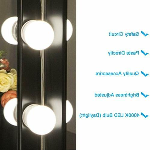 2/6/10/12pack Mirror Led Vanity Dressing Bathroom