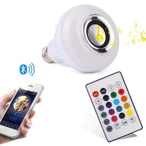 Bulb Light Music RGB Wireless E27 Remote 12W Lamp