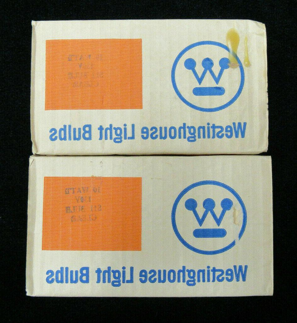 lot 12 6w light bulbs 130v clear