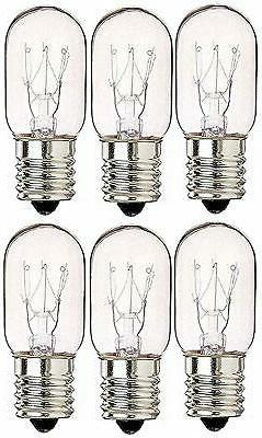 6 Pack 40 Watts Microwave Replacement Bulb for Most Ge and W