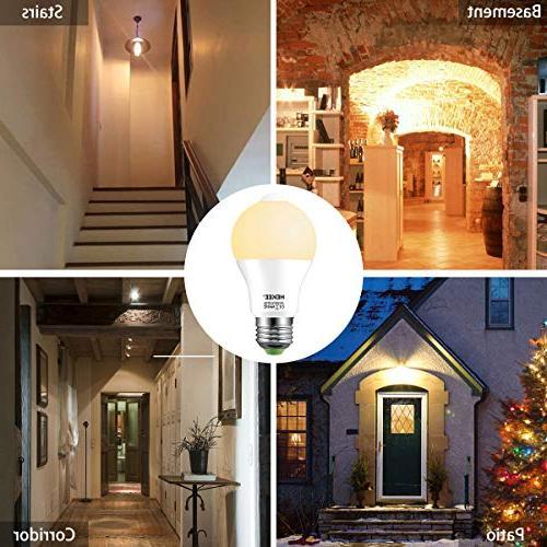Motion Sensor Bulb 15W Dusk LED PIR 100w Equivalent Bright 1450 E26 Bulbs