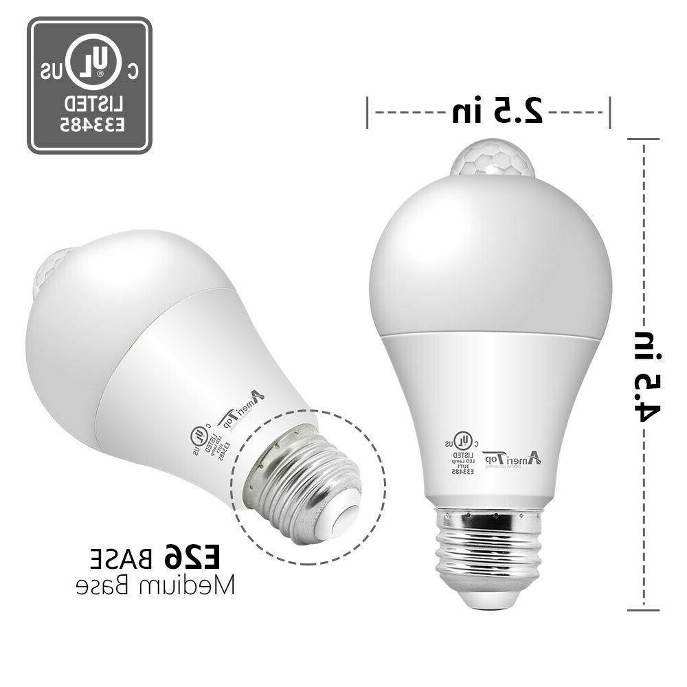 Motion Sensor UL Listed LED Light Bulbs 2 Pack