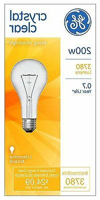 NEW GE Crystal Clear 200-Watt decorative style Light Bulbs 3