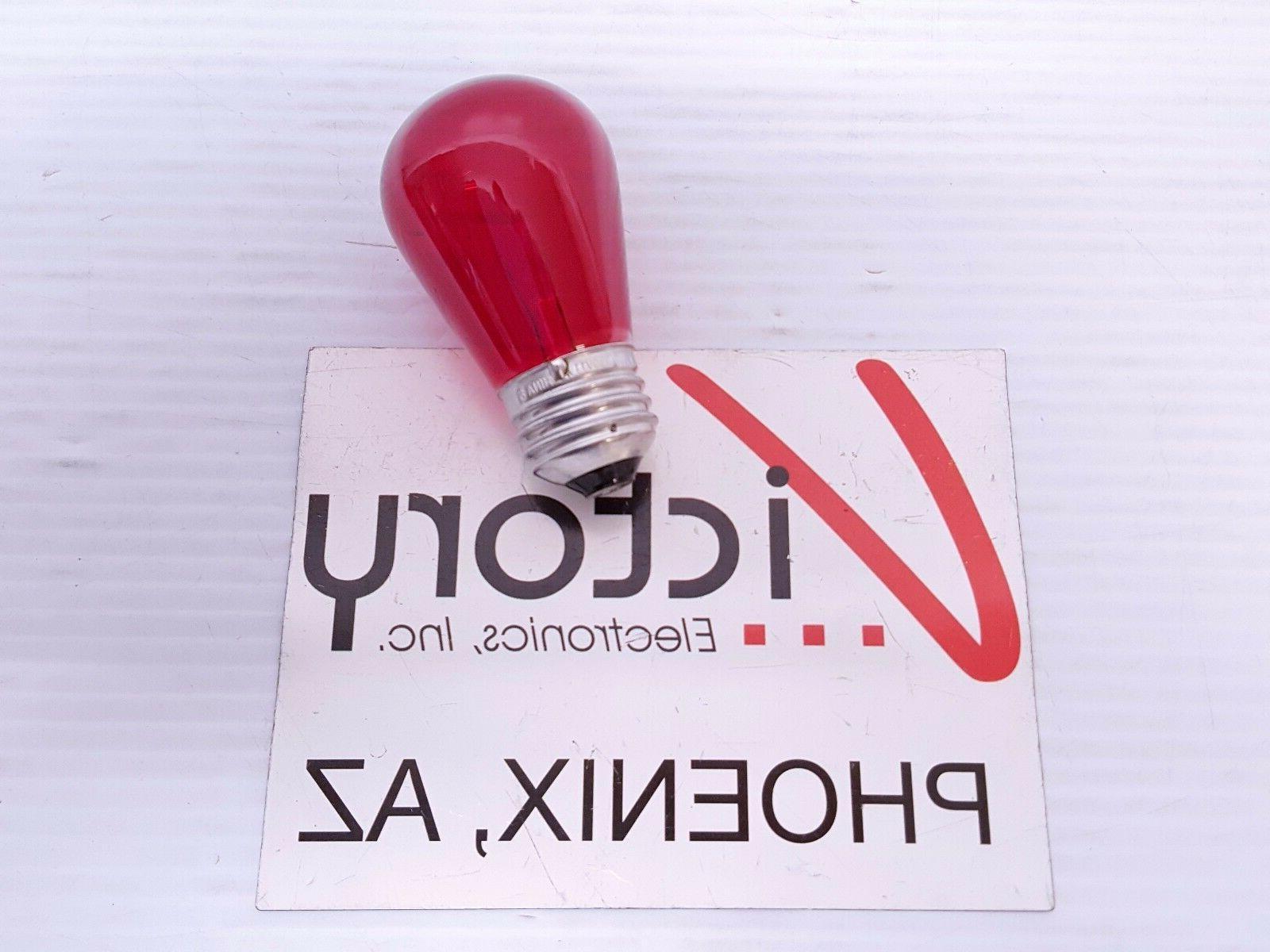 NEW Electric Light Bulb 11W Red Orange