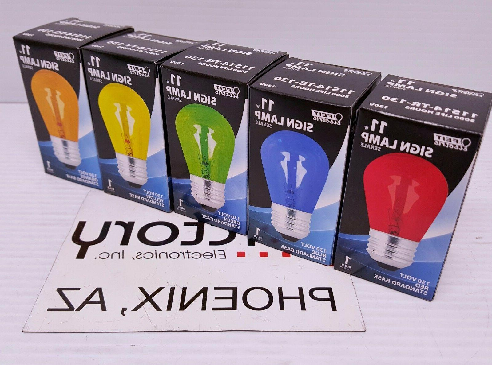 new light bulb 11w sign incandescent red