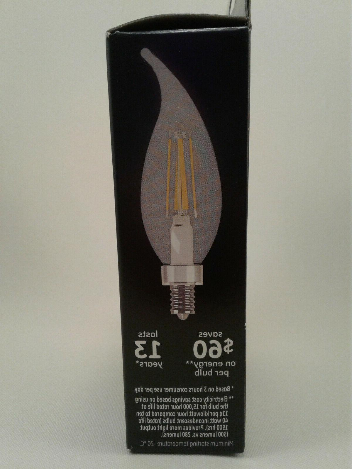 NIB 4 Boxes LED 40Watt Clear Bulbs
