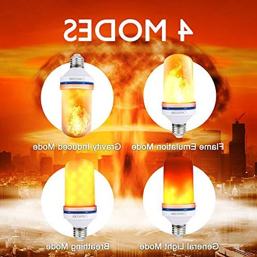 Omicoo Flame Effect Fire Light Bulbs E27 Modes with Decorative Light Atmosphere Lighting Vintage Party