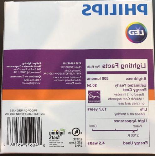 One 3-pack Soft White B11 Candelabra LED Bulb.BRAND