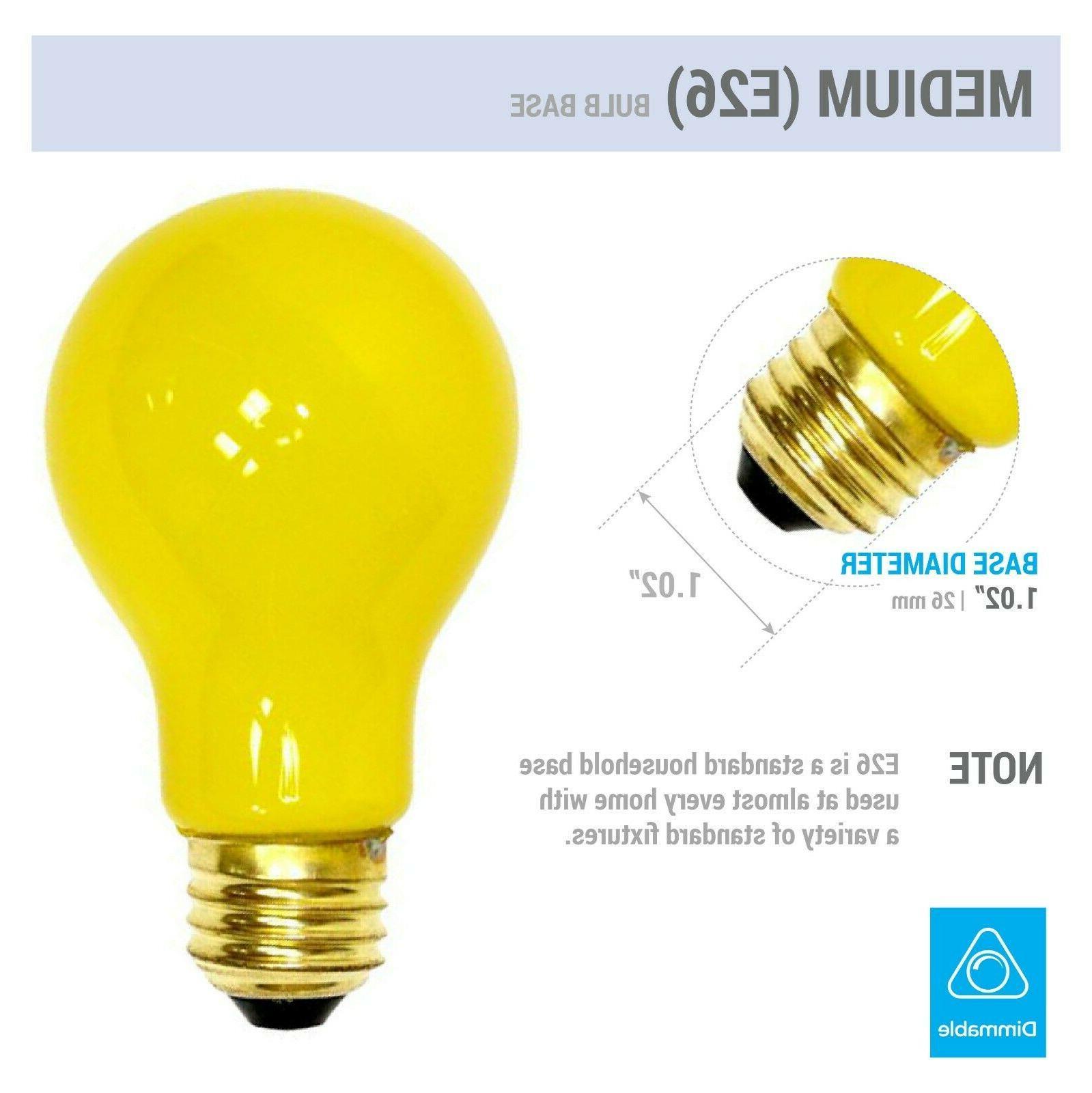 Pack BUG LIGHT BULB Watt Medium E26 130V Incandescent 100A/YB