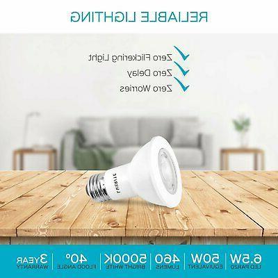 Luxrite PAR20 Bulb Dimmable 5000K 460lm E26