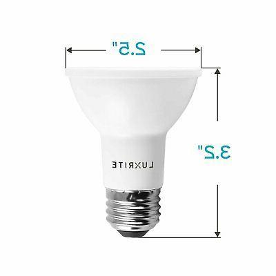 Luxrite PAR20 Light Bulb 5000K 6-Pack