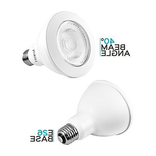 Luxrite PAR30 LED Dimmable Bulb, Equivalent, Cool White, 12W LED Flood Light Bulb, 850 UL Damp