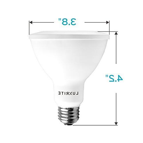 Luxrite Bulb, 75W Equivalent, Cool 12W LED Flood Bulb, 850 Lumens, Energy & UL Listed, Damp