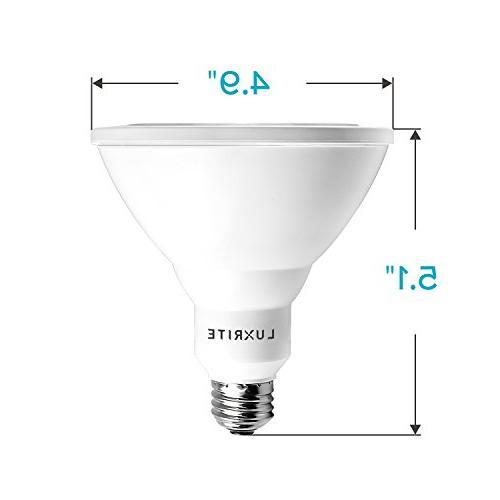 Luxrite PAR38 Light Bulb, 5000K Flood & UL Base, Indoor/Outdoor
