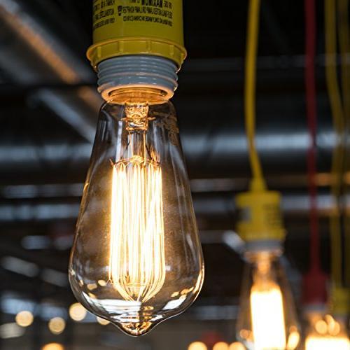 Antique Vintage Edison ST64 - Hudson Lighting 60 watt Bulb - Squirrel 230 Lumens Dimmable - Bulb – Edison Light Bulbs
