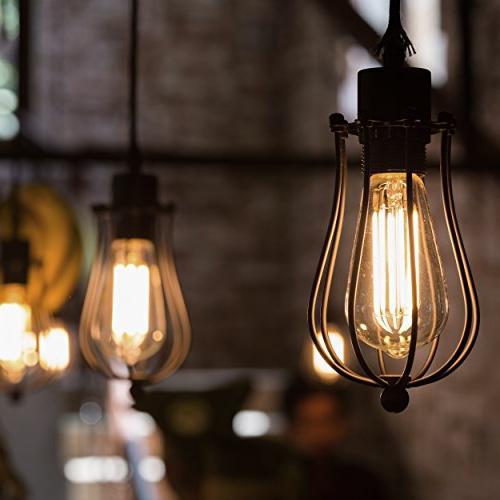 Antique ST64 - 60 watt Light Bulb - Squirrel Filament 230 - – Bulbs
