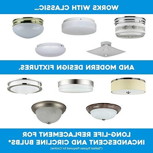 Sunlite LED Light Engine, Super White, 17 Flush LED Upgrade Panel,
