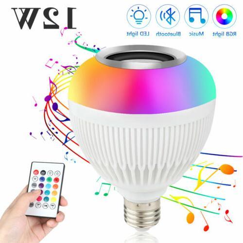 4Pcs RGB LED Light Bulb 16 Colors Changing Magic Lamp 3W E27