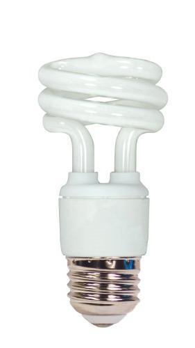 Satco S7214 11W T2 Ultra Mini Spiral Light Bulb Screw-In 270