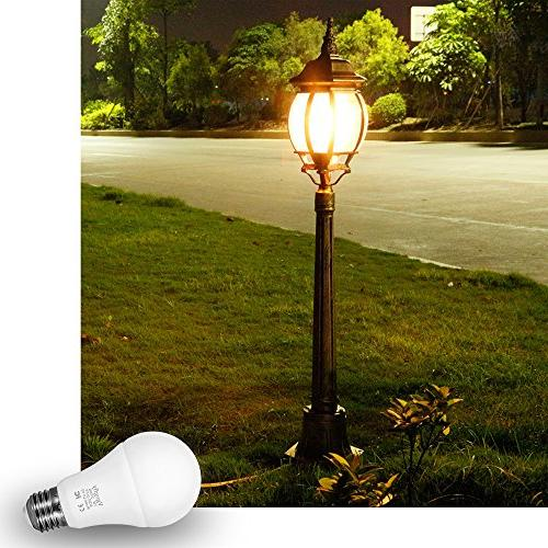 Sensor Bulb Dusk to Bulbs Lighting 7W Automatic On/Off, Indoor/Outdoor Porch Garage Garden