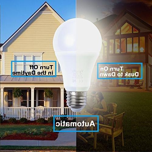 Sensor to Dawn Bulbs Smart Lighting 7W Automatic Indoor/Outdoor Porch Garage