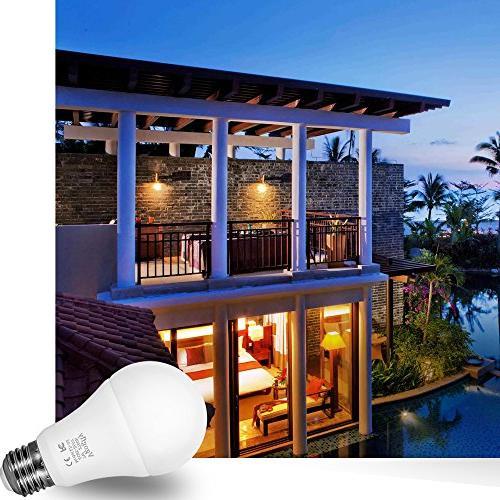 Sensor to LED Bulbs Smart 7W E26/E27 Automatic Indoor/Outdoor Yard Garage