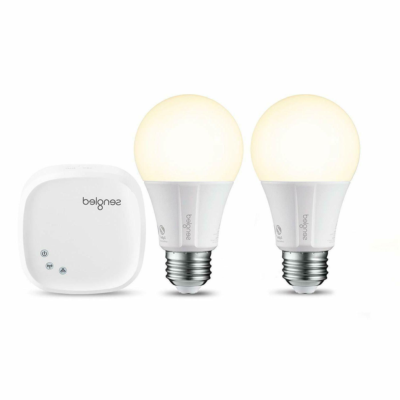 smart led 2 light bulbs and hub