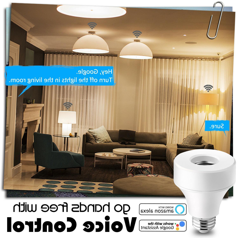 WiFi Smart Light Socket E27 E26 Works /Alexa/IFTTT