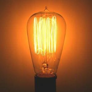 st19 clear vintage incandescent light