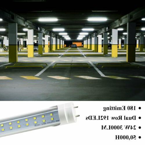 CNSUNWAY Tube Light Bulbs 22W/60W G13 Bi-Pin 6000K