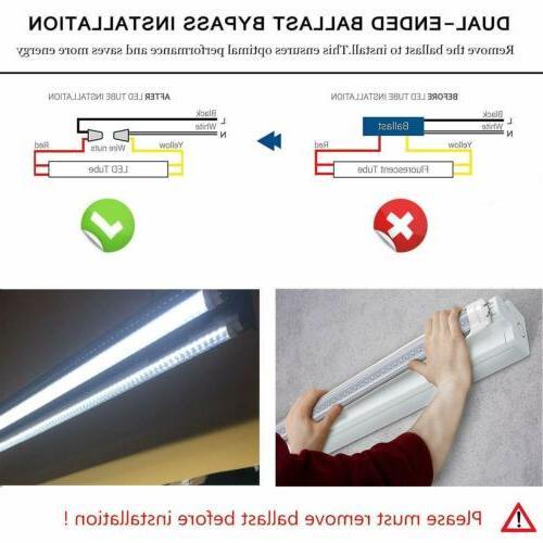 CNSUNWAY LED Tube Light G13 Bi-Pin Dual-end Powered 6000K