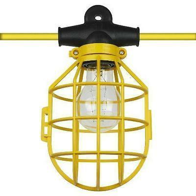 50 ft. Temporary Lighting String Work Light Commercial Heavy