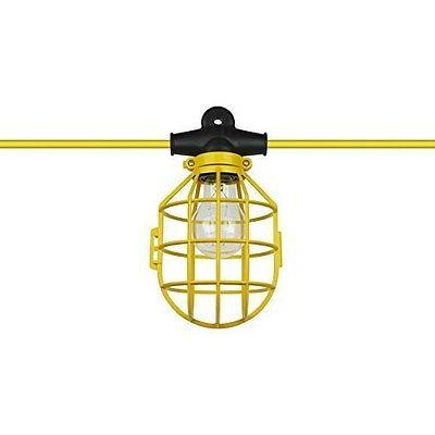 50 ft. Temporary Lighting String Work Light Commercial Heavy