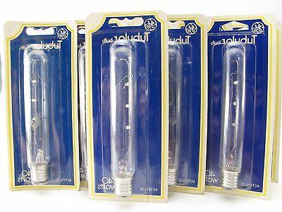 Ge Tubular Light Bulb 40 W 380 Lumens T6-1/2 Intermediate 5-
