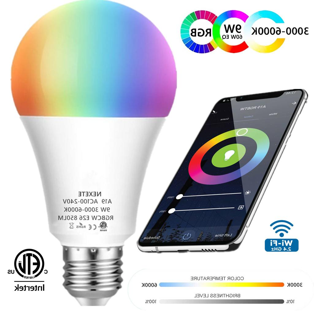 wifi smart led light bulb 9w 60w