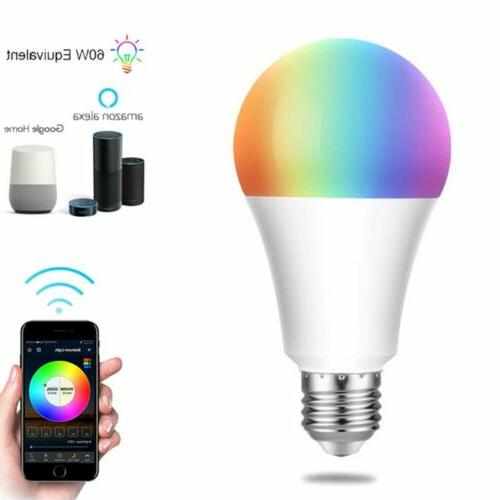 wifi smart led light bulb e26 color