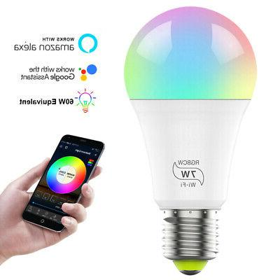 WiFi Light Bulb Dimmable Hub Required Alexa&Google Assistant