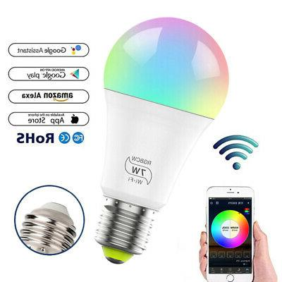 WiFi Smart Light Bulb Dimmable No Required